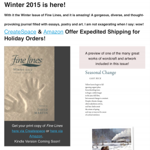 Fine Lines Winter Issue 2015